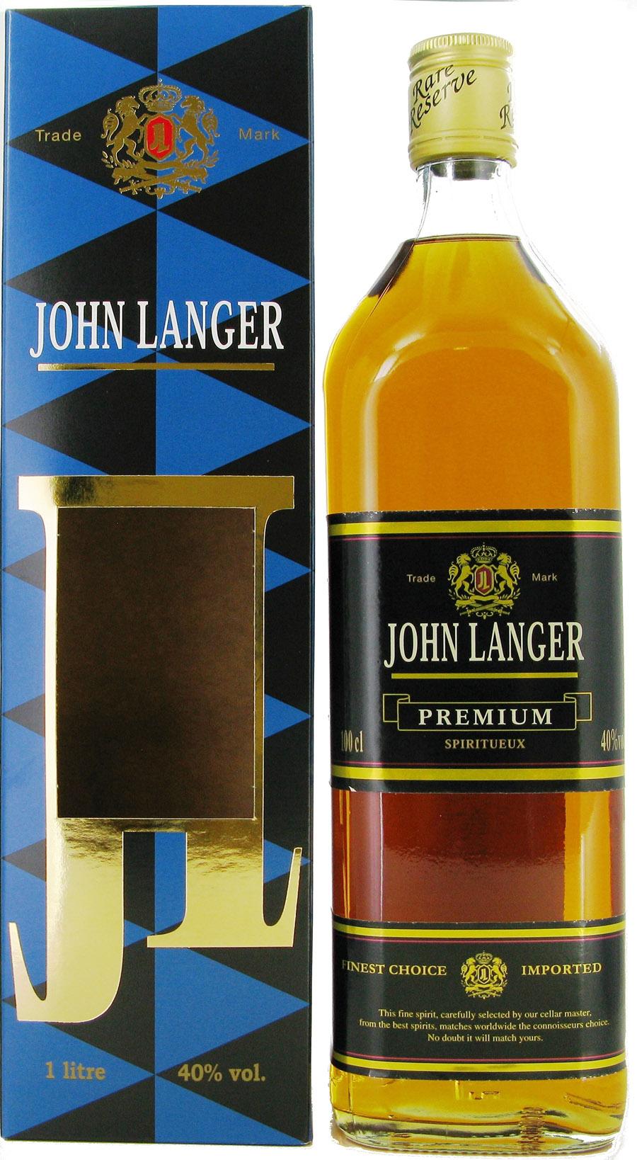 SPIRIT JOHN LANGER BLACK 40 % - 1 L + COFFRET