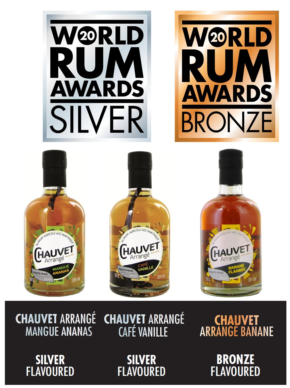 Product News: CHAUVET Rhum Arrangé awarded from the World Liqueur Awards 2020